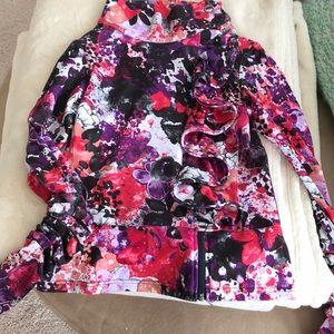 Karma floral ruffle jacket